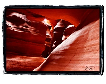 Antelope Canyon in Arizona Sandstone Slot Canyon Earth Tone Hues Fine Art Print 5 of 5