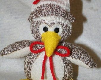 Handcrafted Mini Sock Monkey PENGUIN