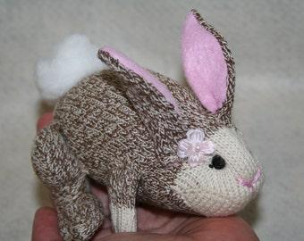 Handcrafted Miniature Sock Monkey Mini Lop Bunny Rabbits
