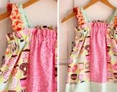 Girls Doughnut Cake Ruffle Sleeve Strip Dress Sz. 3/4t  l Ready To Ship
