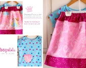 ON SALE Disney Princess Reversible 2 in 1 Skirt with Free Tshirt  size 5/ 6 Ready To Ship