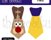 PDF Applique Template - ties