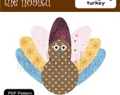 PDF Applique Template - thanksgiving turkey