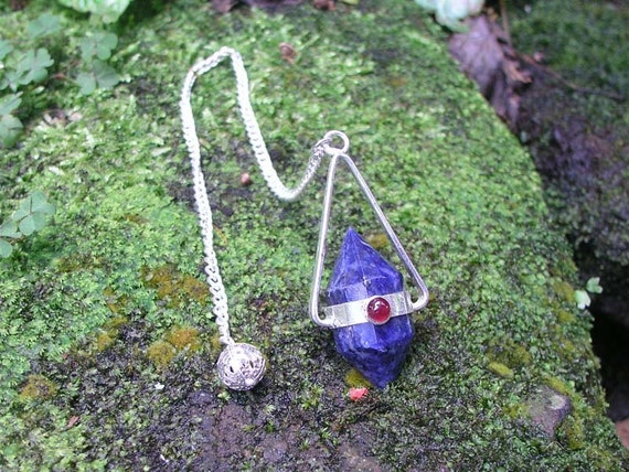 Sodalite and Garnet Dowsing Pendulum