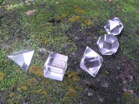 Clear Quartz Sacred Geometry Healing Gemstone Set
