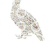 Spotted Eagle - PRINT from an Original Papercut