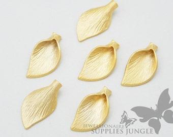 BULK SALE!! P225-01-MG// Matt Gold Plated Calla Flower Beads Cap, 20pcs