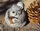 Cast Statuary Stone Chubby Squirrel