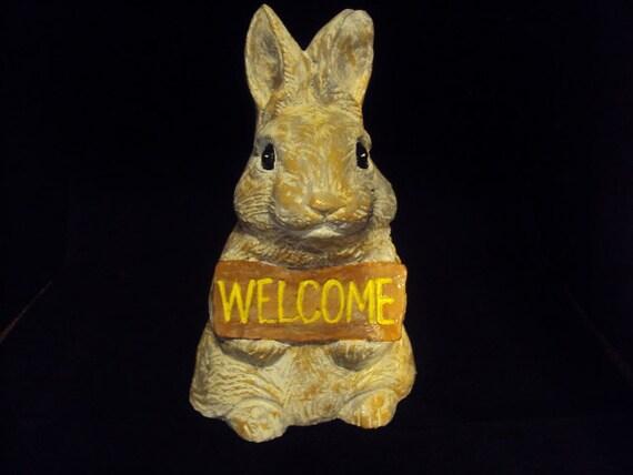 Cast Cement Stone Rabbit Bunny