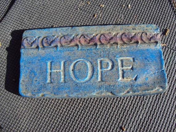Statuary Home Garden Hope Plaque