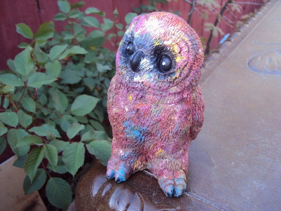 Owl Stone Hippy ooak Almost One And A Half Pounds