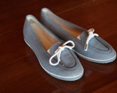 Vintage Blue Denim Grasshoppers Shoes / Flats Women's size 7.5