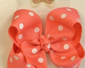 Reserved for LBL. -Hairbow polka dot single layer grosgrain