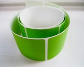 Lime Green Blank Square Stickers - 50