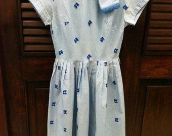Vintage Day Dress 50s 60s