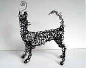 Unique Wire Animal Sculpture - HOWLIN' WOLF - Wire Art by Nakisha