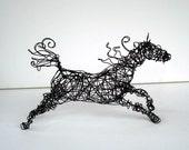 Original Wire Horse Sculpture - SPIRALMANE HORSE