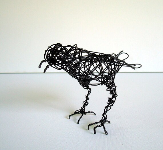 NOISY, NOISY Starling - One of a Kind Wire Bird Sculpture