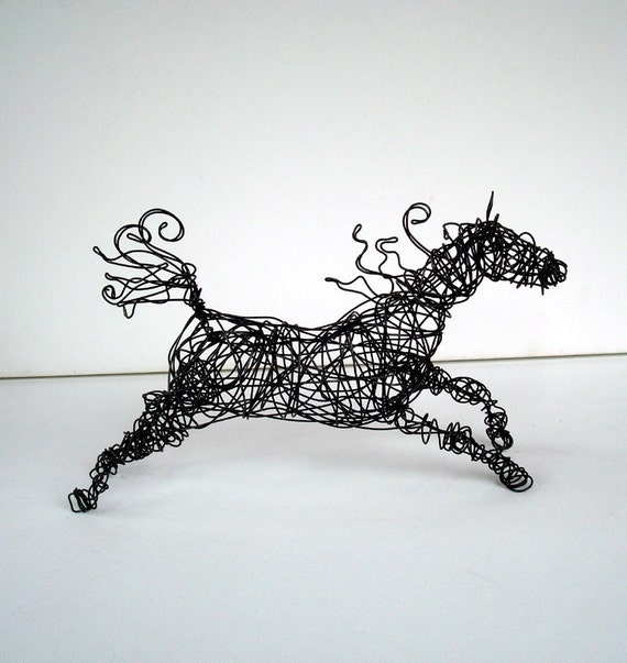 Original Wire Horse Sculpture - SPIRALMANE HORSE