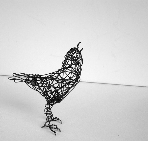 SINGING SKYWARD - Original Handmade Wire Bird Sculpture