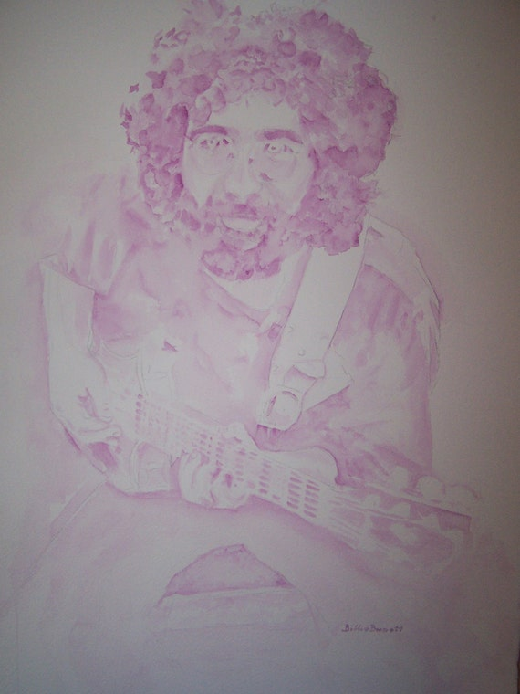 """Print of Watercolor """"Fun with Jerry"""""""