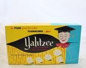 Vintage Yahtzee Game, Vintage Board Game, Yahtzee, Classic Board Game,1950s Board Game