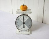 Vintage Kitchen Scale American Family Black and White Cottage Chic