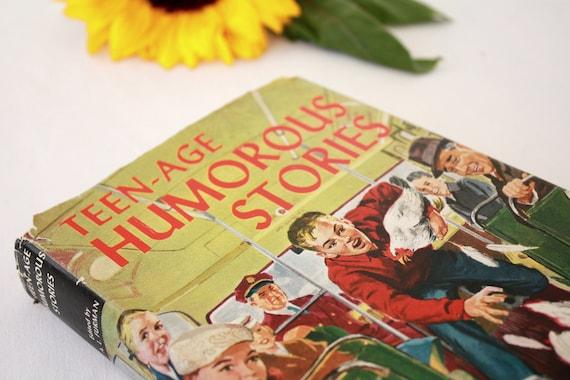 Vintage Book Teenage Humorous Stories Teen-Age Library Book 1957