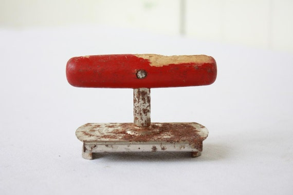 Vintage Jar and Bottle Opener Red Farmhouse Rustic Industrial