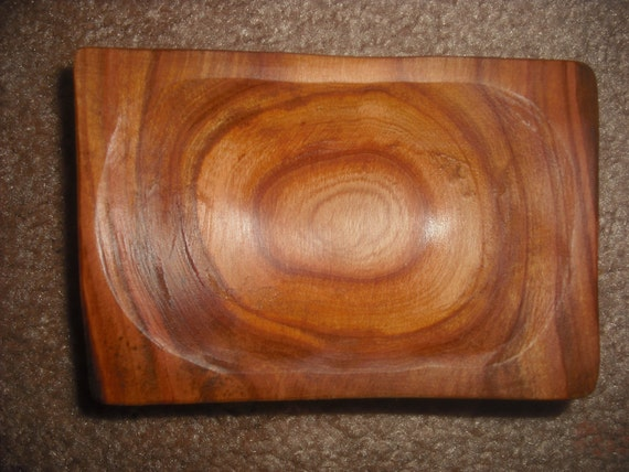 Hand Carved Apple soap dish/bowl, 156