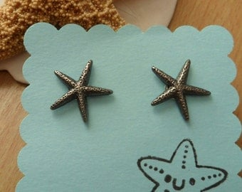 50% off SALE Starfish Earring Posts Studs - Nautical jewelry - Summer jewelry - OhanaSisters