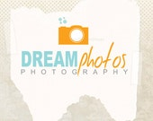 Photography logo design - Premade professional photography logo (and watermark) ooak business logo with two versions