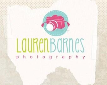 Premade photography logo design camera attractive logo hand drawn pre made ooak logo design and watermark