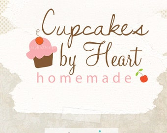 Premade cupcake logo design - Bakery logo - pre made business logo and watermark design ooak
