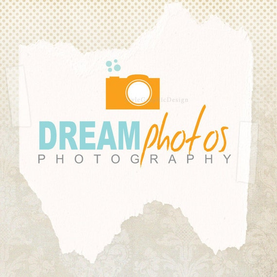 Premade professional photography logo (and watermark) ooak business logo with two versions