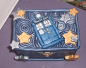 "Doctor Who TARDIS Police Box Jewelry Box Inspired by ""Vincent and the Doctor"""
