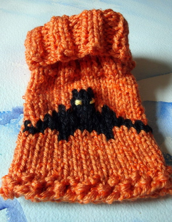 Knitting Pattern For Cowl Scarf : Items similar to Halloween Toe Warmer (Cast Sock) hand knit in orange with a ...