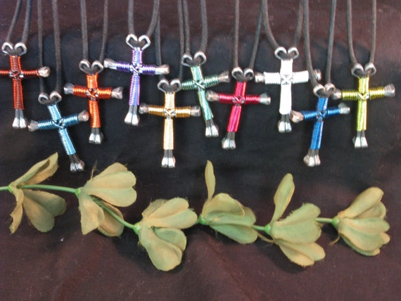 5 Disciple's Cross Necklaces - SPECIAL  PRICE ... any 5 color combinations.....(includes SHIPPING)