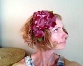 Custom headband for Julia  -  Flower Fascinator - Retro -  Wedding Accessory - Geranium headband -  Spring - Lilac hair accessory - Easter