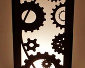 Steampunk Gears Accent Lamp