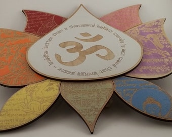 Lotus - Buddha - Om wall hanging