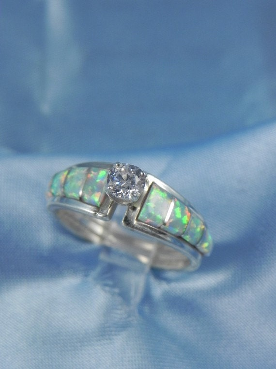 Items Similar To Vintage Native American Opal Engagement Ring On Etsy