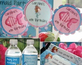 Little Mermaid Birthday Party Package - Customized You Print Digital File