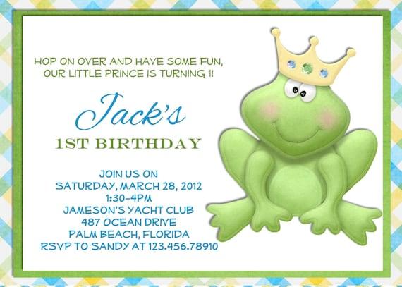 Frog Prince Birthday Invitation