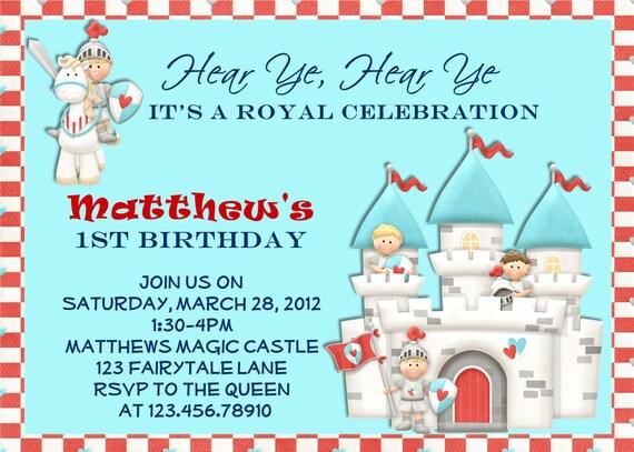 Prince Knight Birthday Invitation