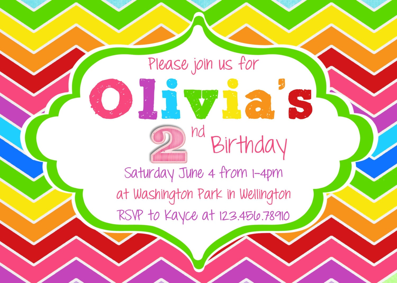 Rainbow Birthday Invitation Printable and Custom by ...