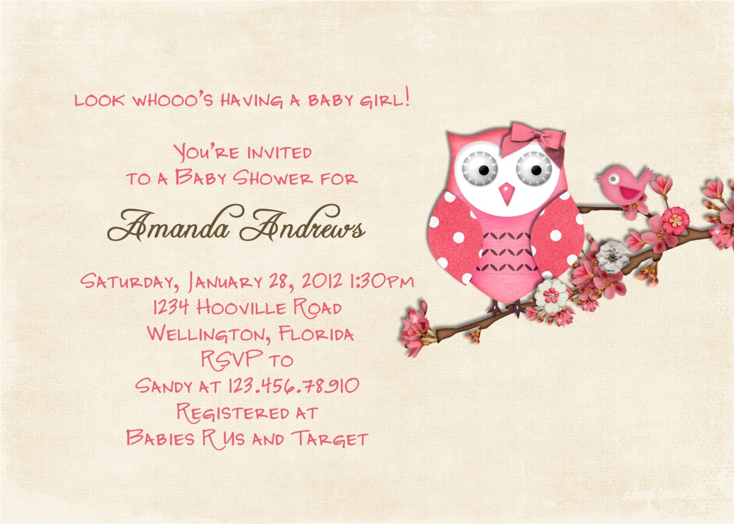Owls Baby Shower Invitations was luxury invitations template