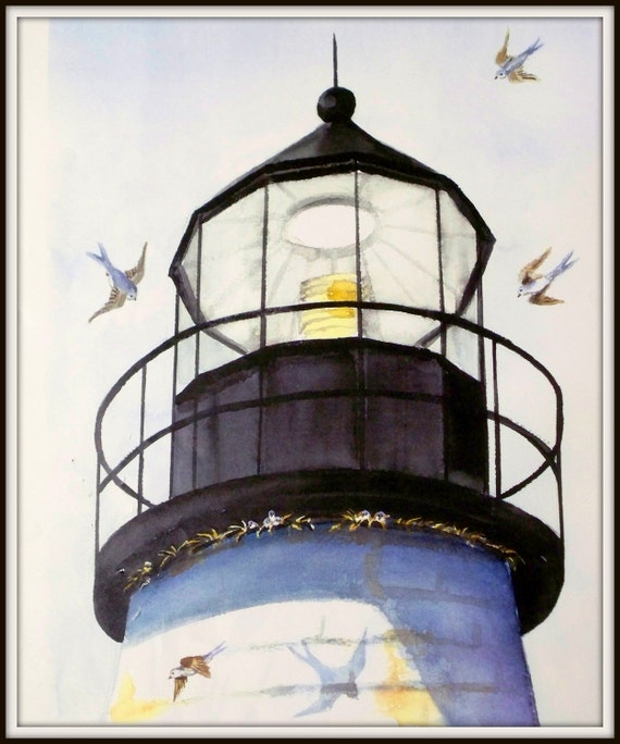Swallows At Pemaquid Lighthouse