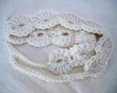 Ivory Crochet Headband, Halo Headband