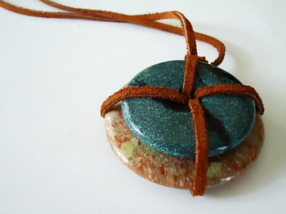 Stacked Stone Pendant Necklace
